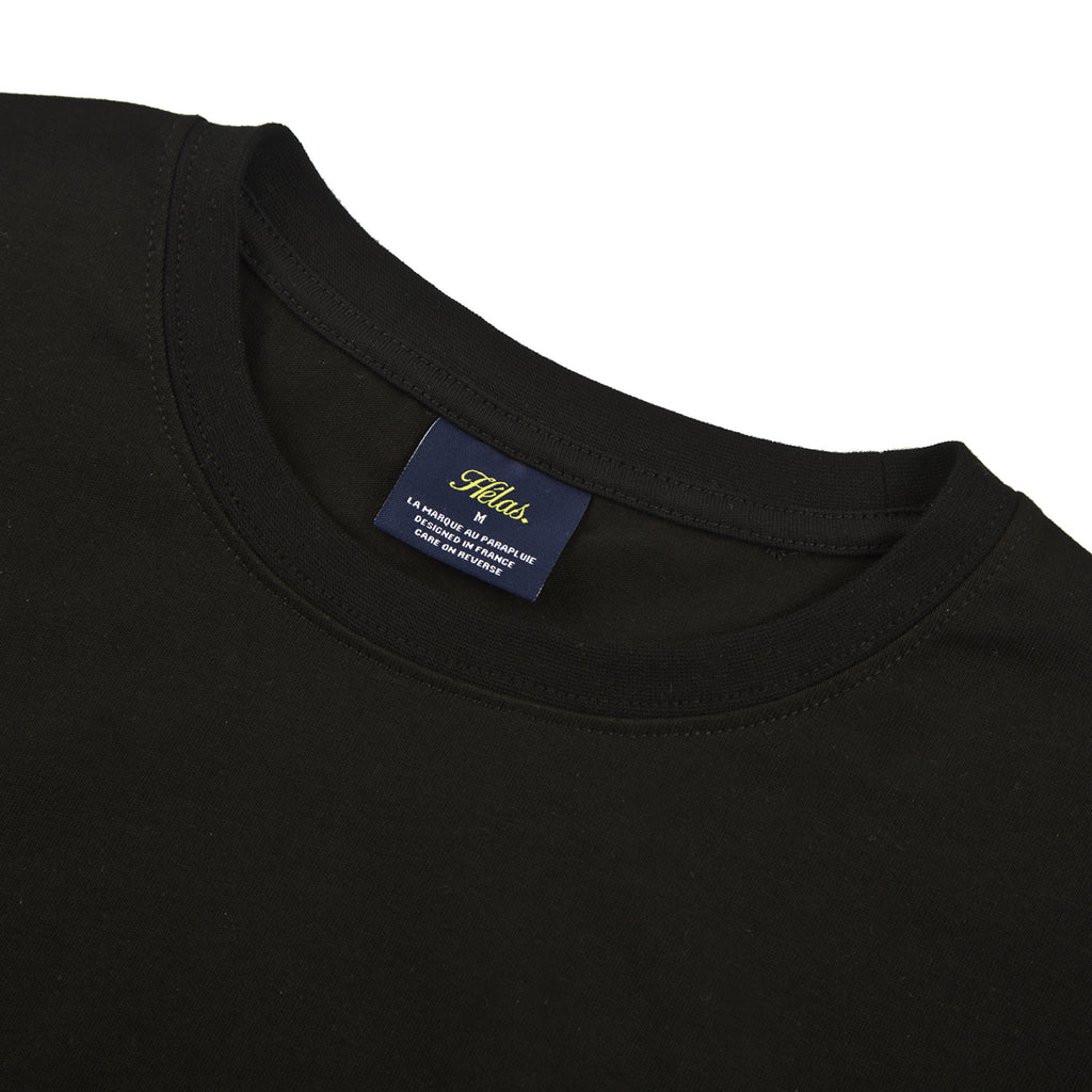 Helas Good Dose T Shirt in Black - Collar