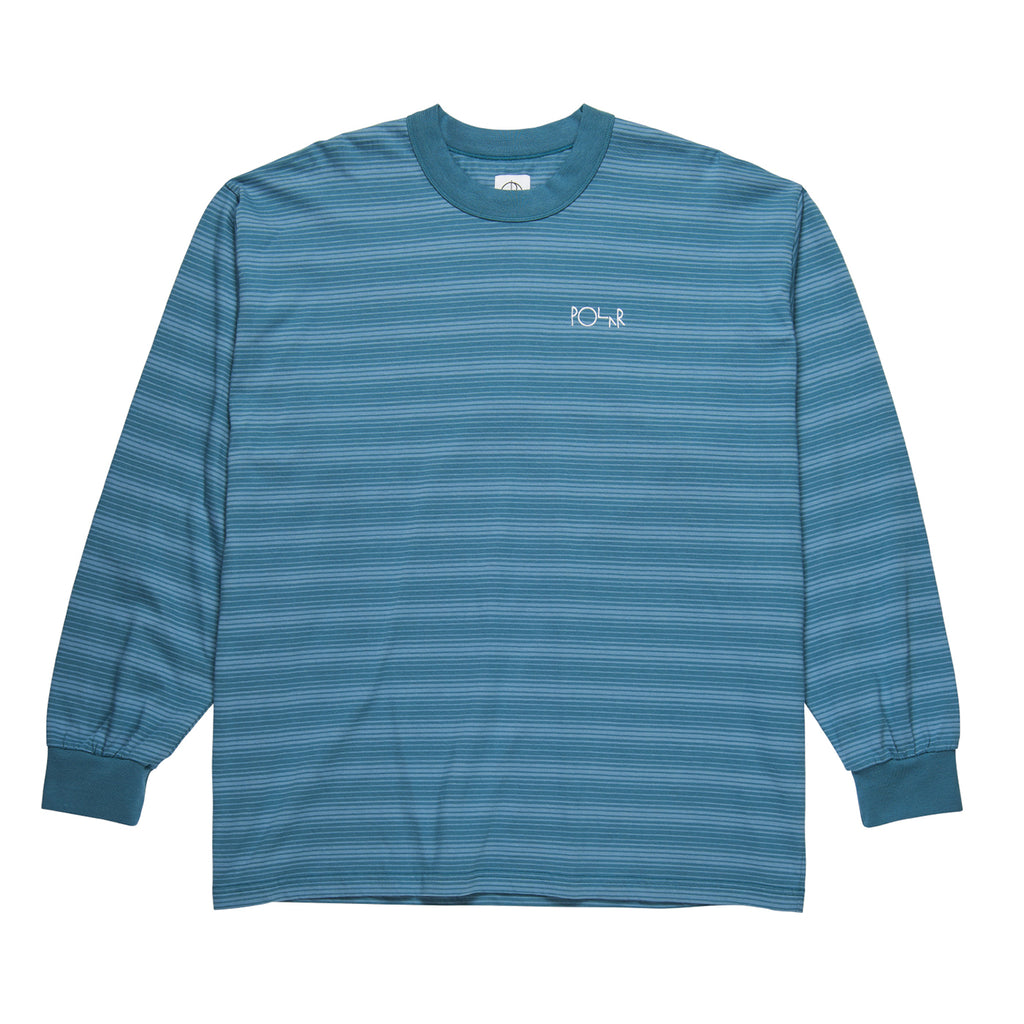 Polar Skate Co L/S Gradient T Shirt in Grey Blue