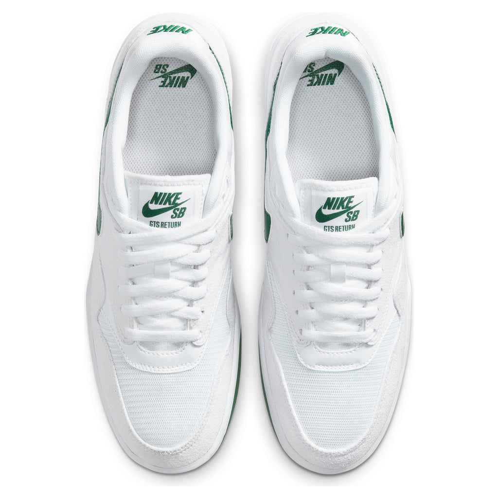 Nike SB GTS Return Premium Shoes in White / Pine Green - White - Top