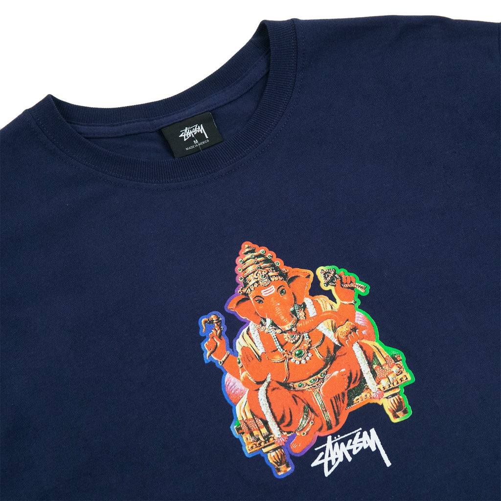 Stussy Ganesh T Shirt in Navy - Detail
