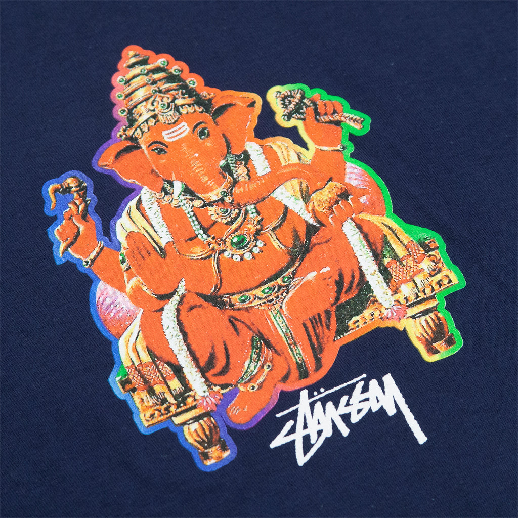 Stussy Ganesh T Shirt in Navy - Print