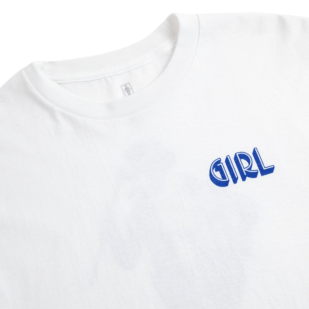Girl Skateboards Rumours T Shirt in White - Detail