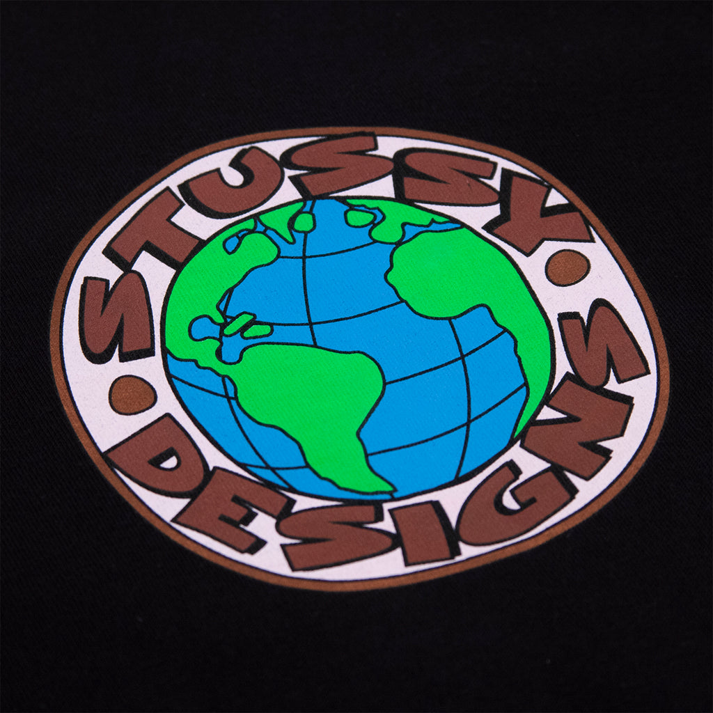 Stussy Globe T Shirt in Black - Print