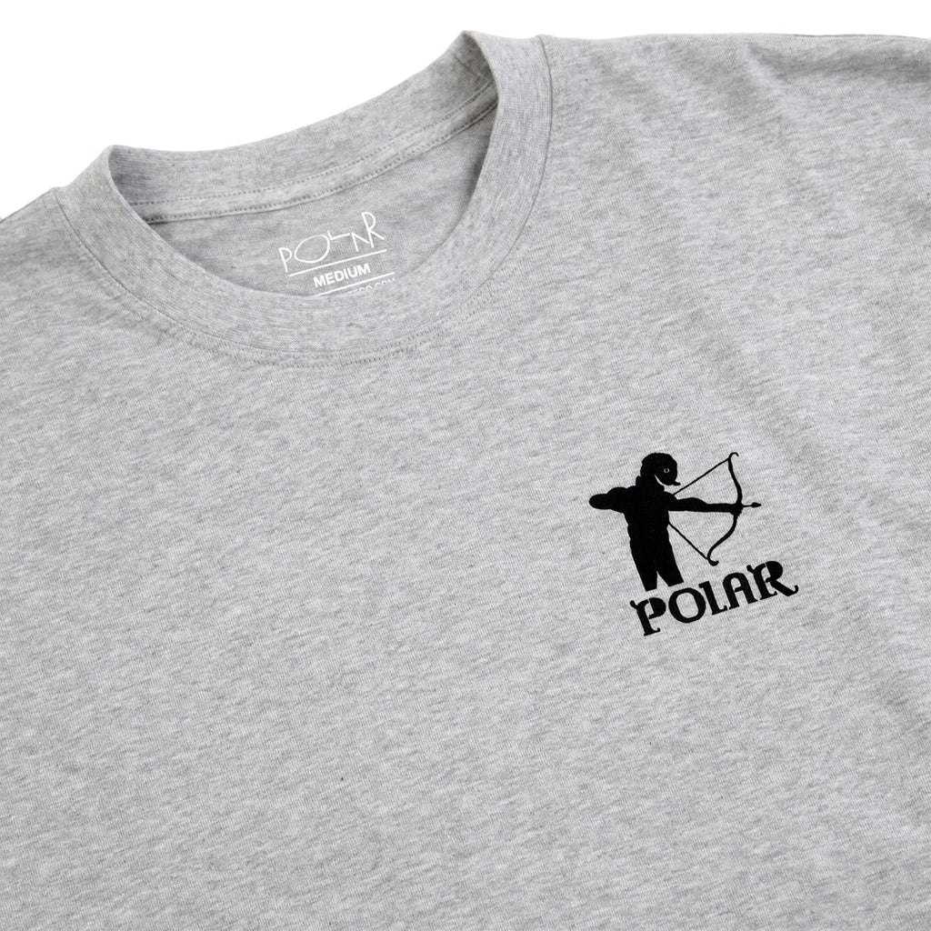 Polar Skate Co L/S Gnarhammer T Shirt in Sport Grey - Detail