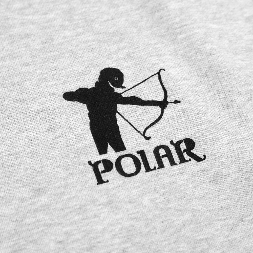 Polar Skate Co L/S Gnarhammer T Shirt in Sport Grey - Print