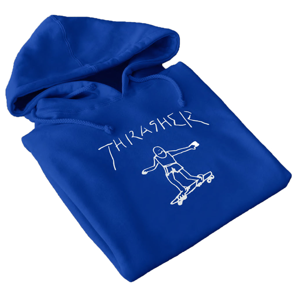 Thrasher Magazine Gonz Outline Hoodie in Royal Blue
