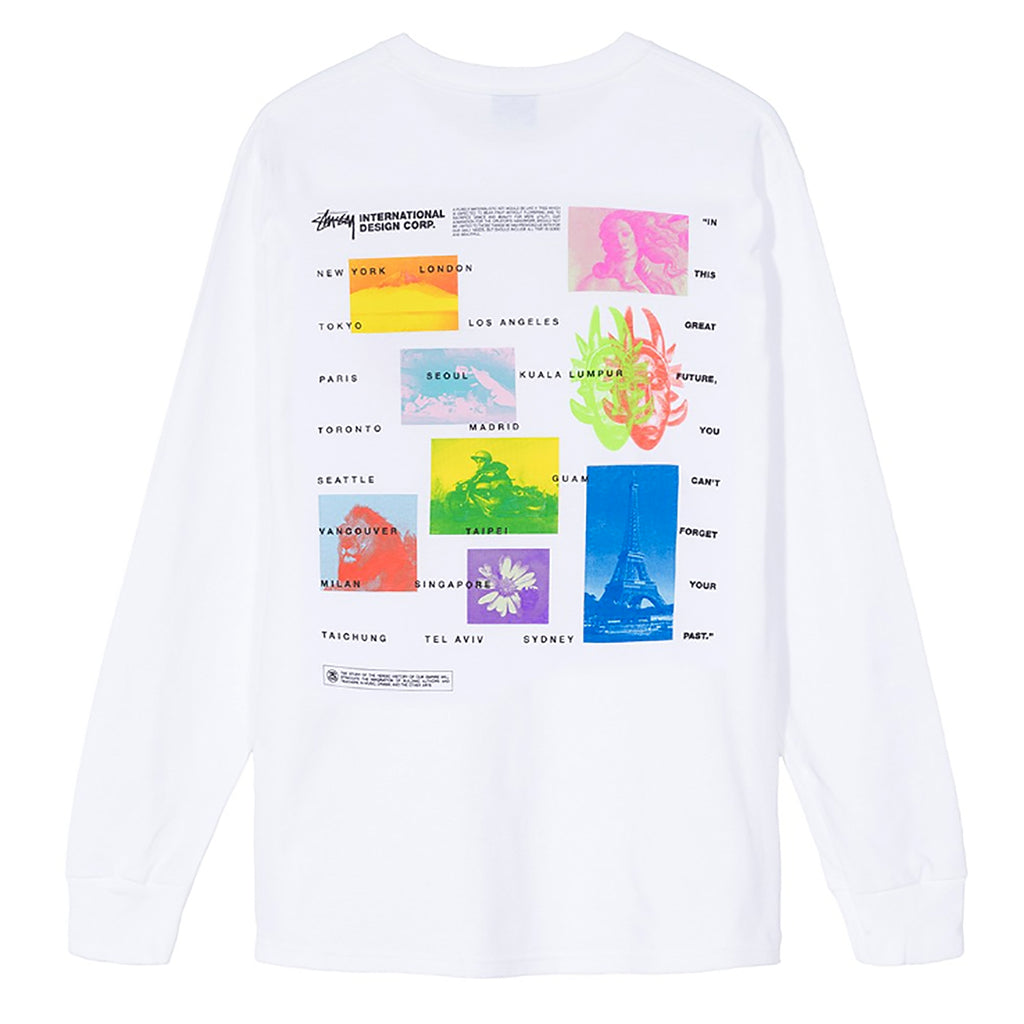 Stussy L/S Great Future T Shirt in White