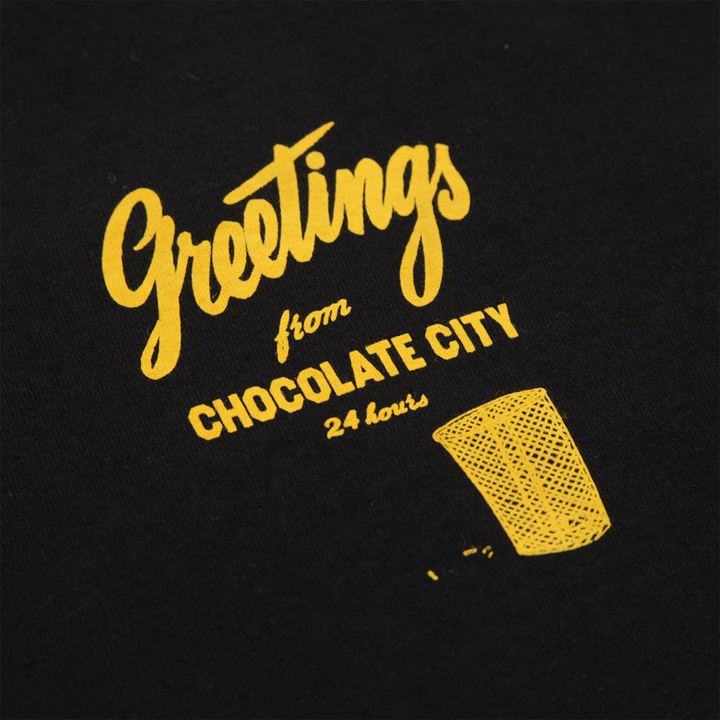 Chocolate Skateboards Chocolate City T Shirt in Black - Print