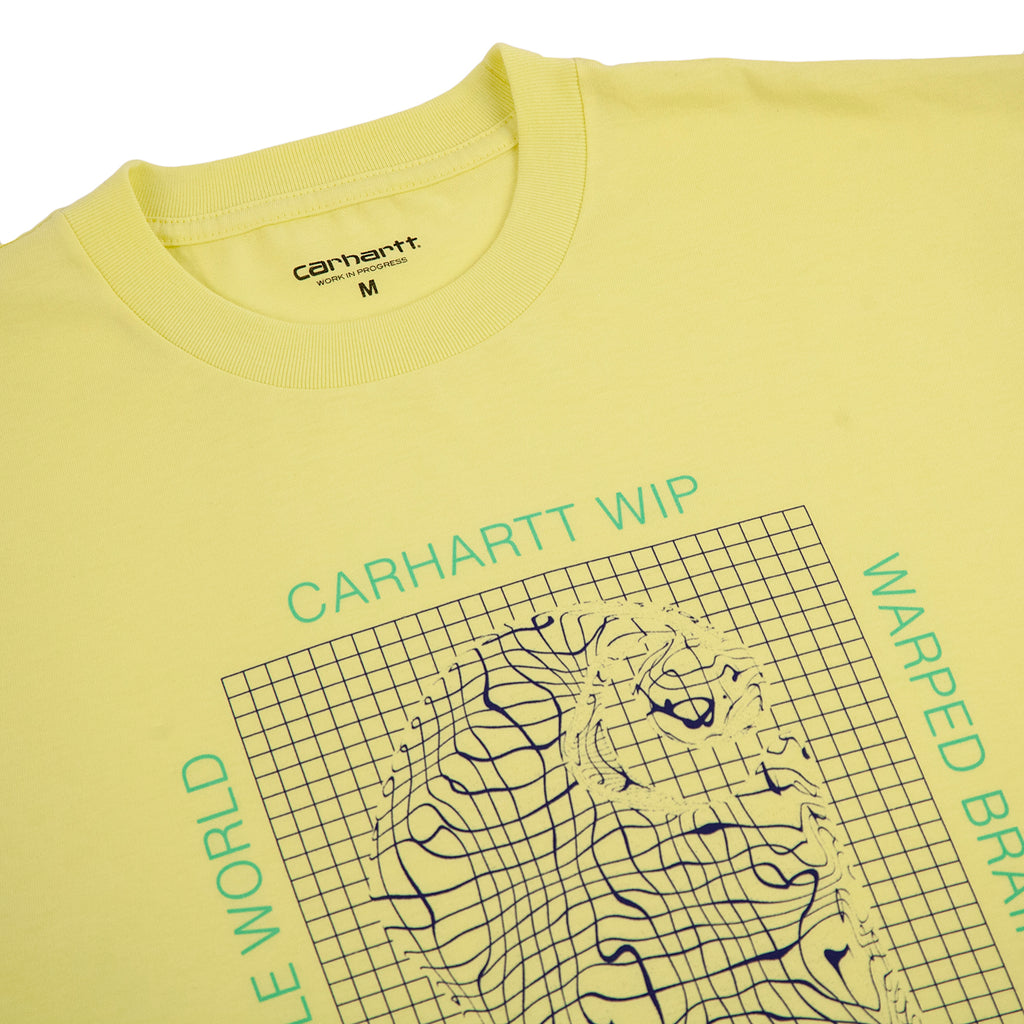 Carhartt Grid C T Shirt in Honeydew - Detail