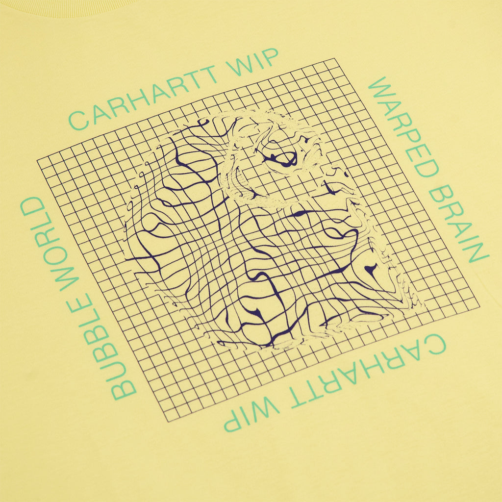 Carhartt Grid C T Shirt in Honeydew - Print