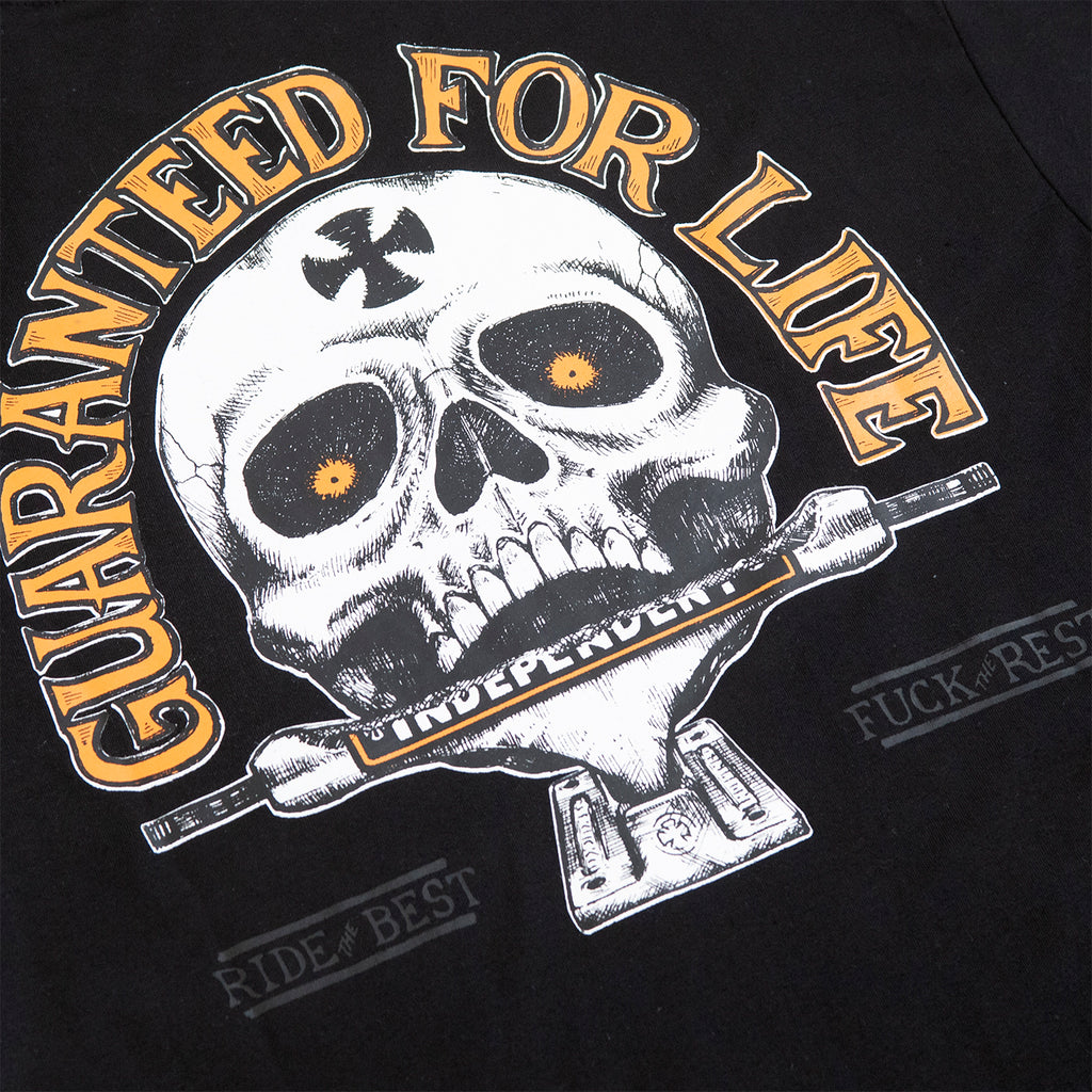 Independent Trucks Guaranteed T Shirt in Black - Back Print