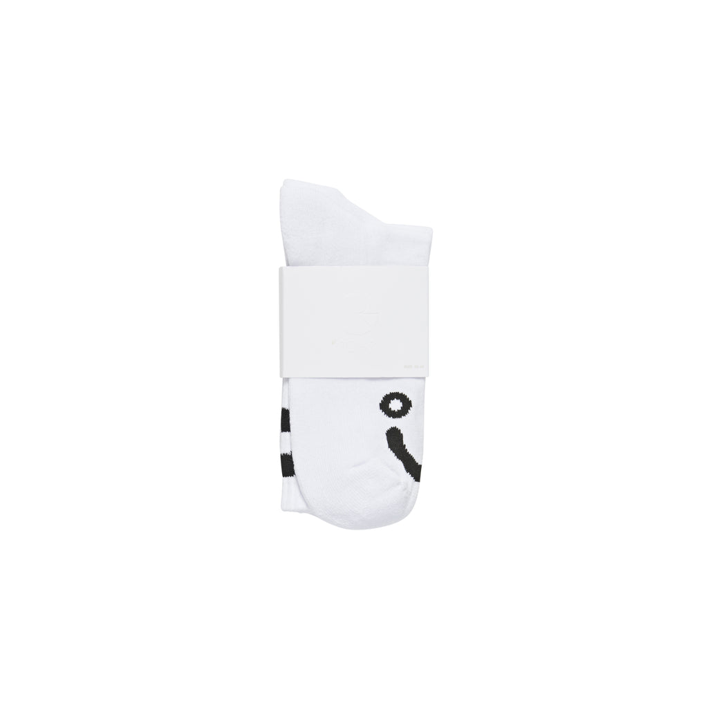 Polar Skate Co Happy Sad Socks in White - Packaged