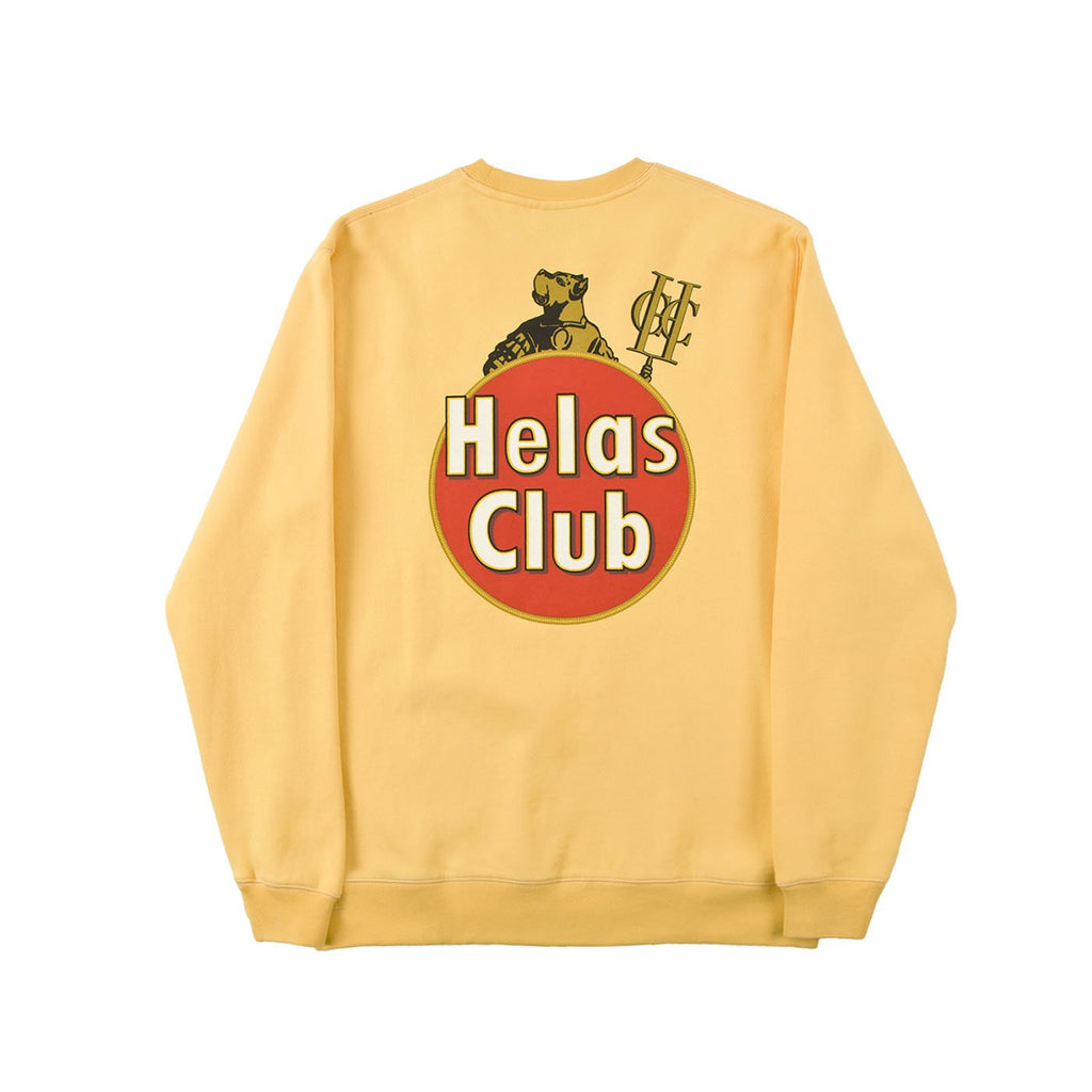 Helas Havane Crewneck Sweatshirt in Yellow