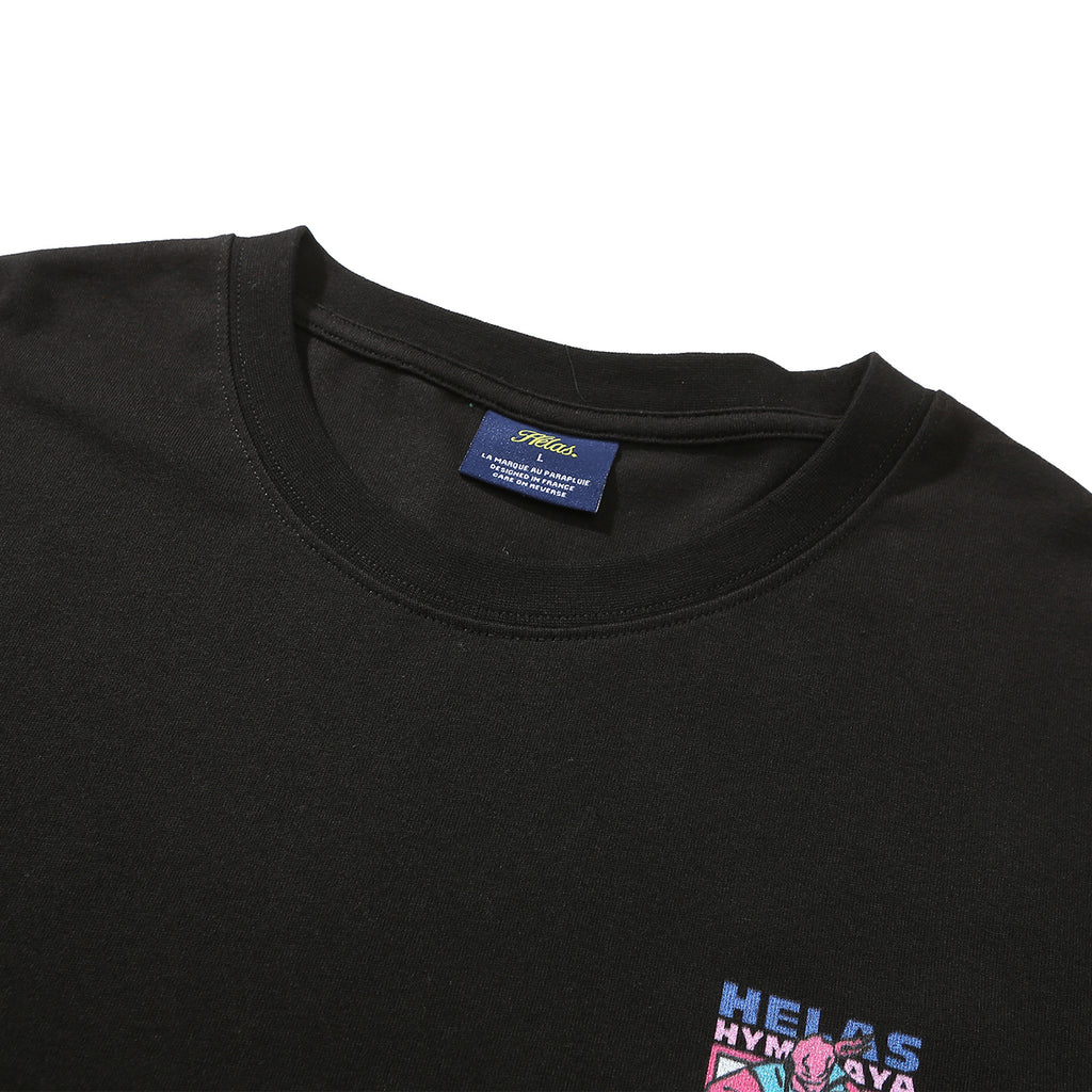 Helas Himalaya T Shirt in Black - Neck