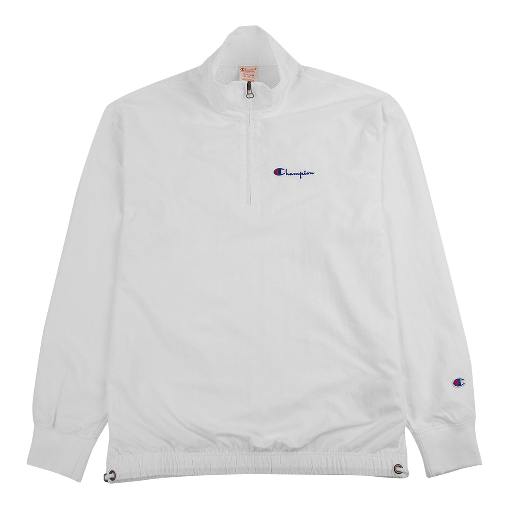 Champion Reverse Weave Half Zip Track Top in White
