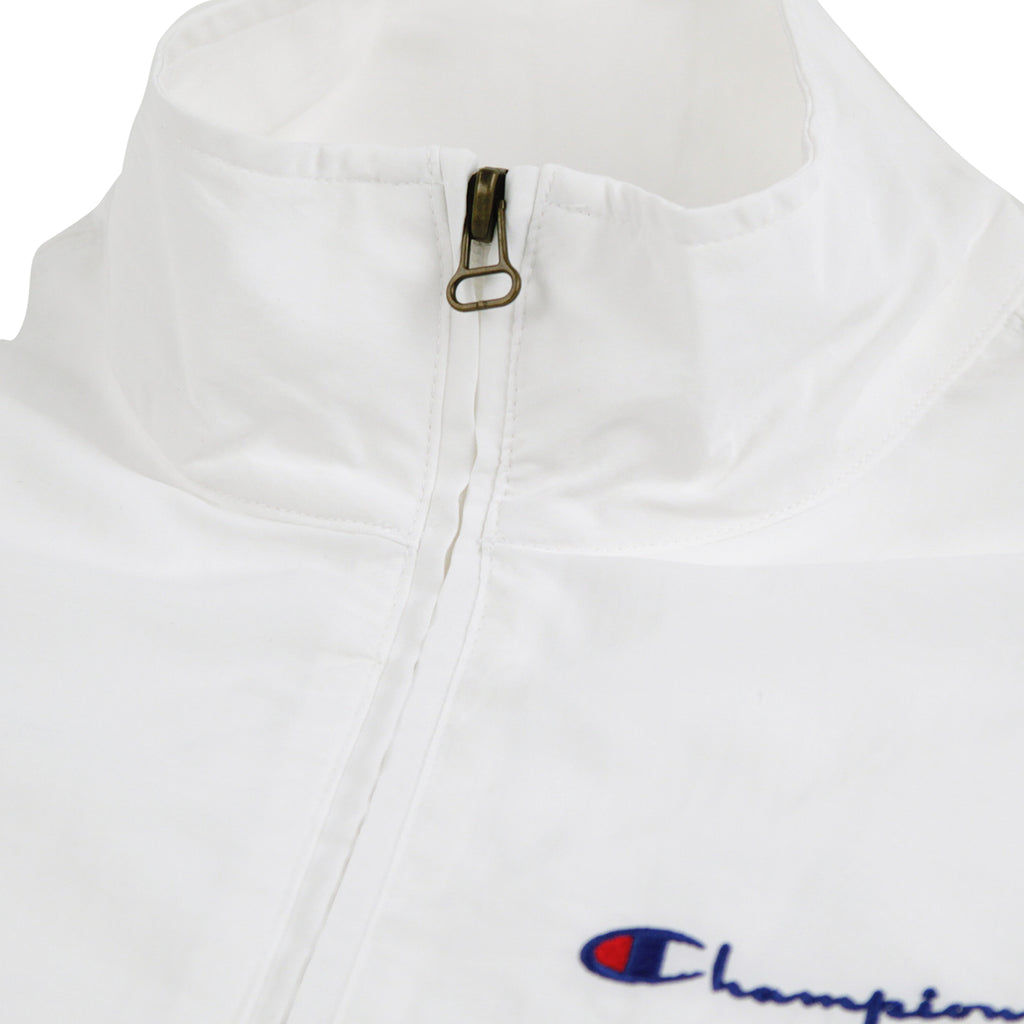 Champion Reverse Weave Half Zip Track Top in White - Collar