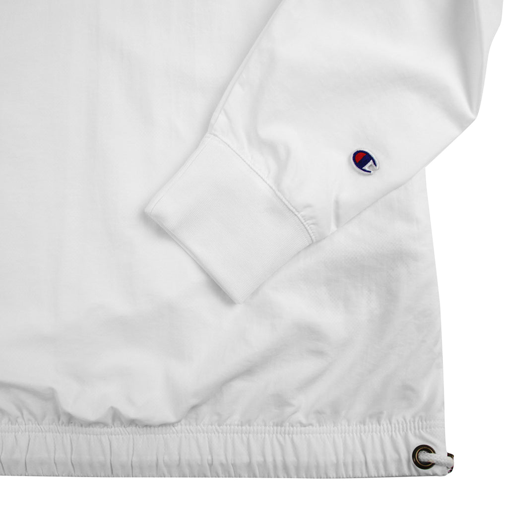 Champion Reverse Weave Half Zip Track Top in White - Sleeve