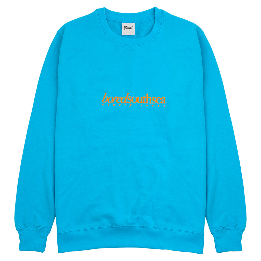 Bored of Southsea Hammer Sweatshirt in Turquoise / Orange