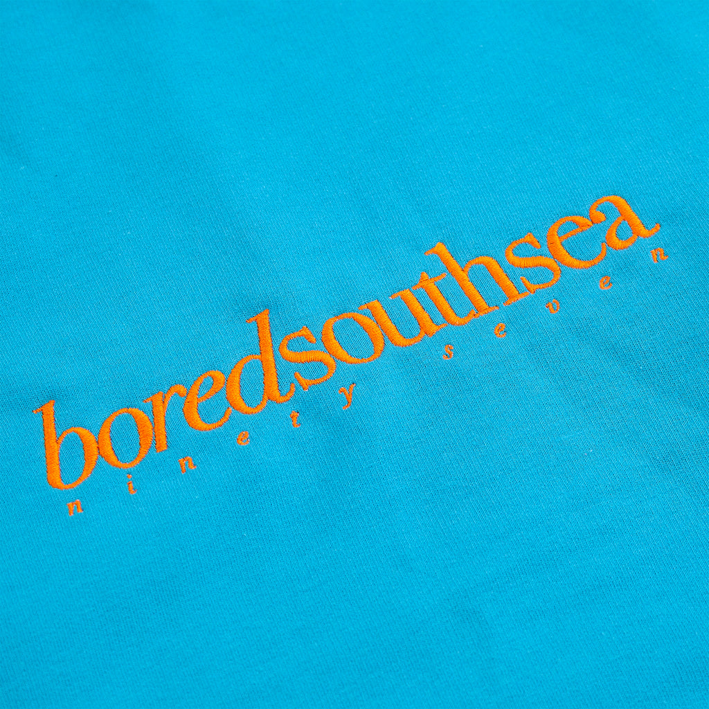 Bored of Southsea Hammer Sweatshirt in Turquoise / Orange - Embroidery