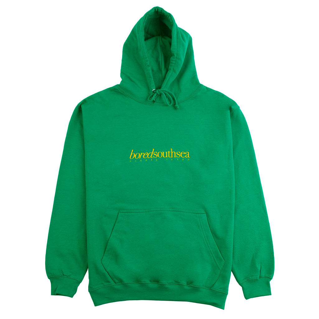 Bored of Southsea Hammer Hoodie in Lucky Green / University Gold