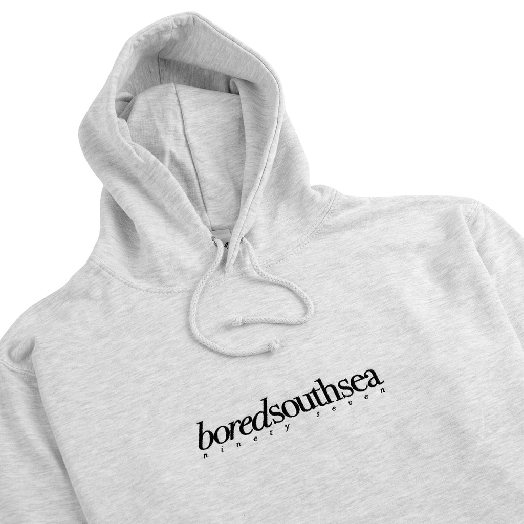Bored of Southsea Hammer Hoodie in Ash Grey / Black - Detail