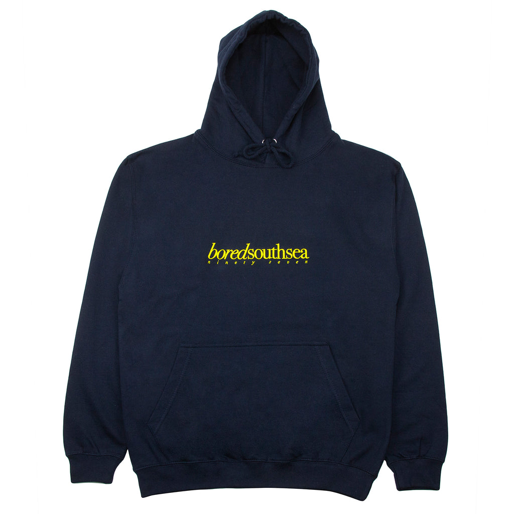 Bored of Southsea Hammer Hoodie in Navy / Yellow