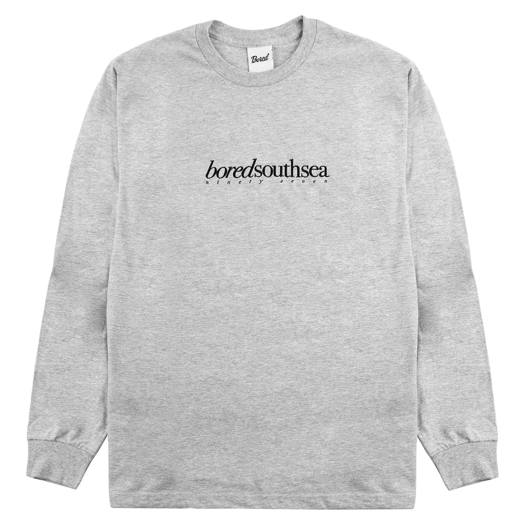 Bored of Southsea L/S Hammer T Shirt in Sport Grey / Black