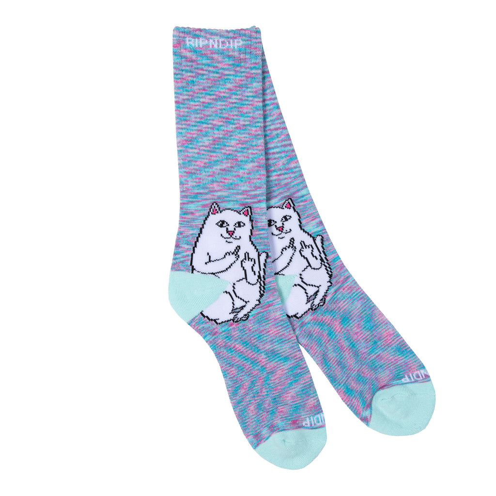 RIPNDIP Lord Nermal Socks in Mint Speckle