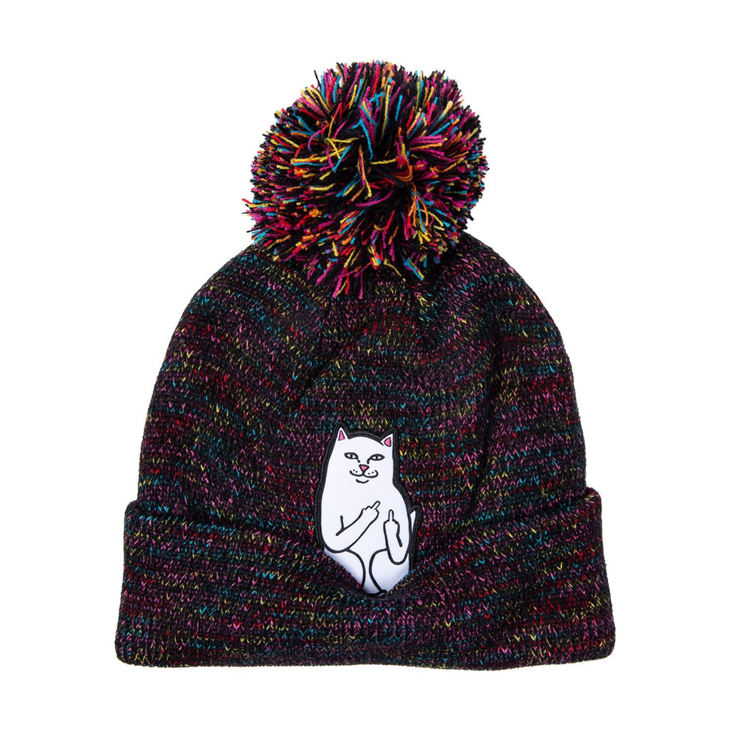 RIPNDIP Lord Nermal Pom Beanie in Black Multi - Detail