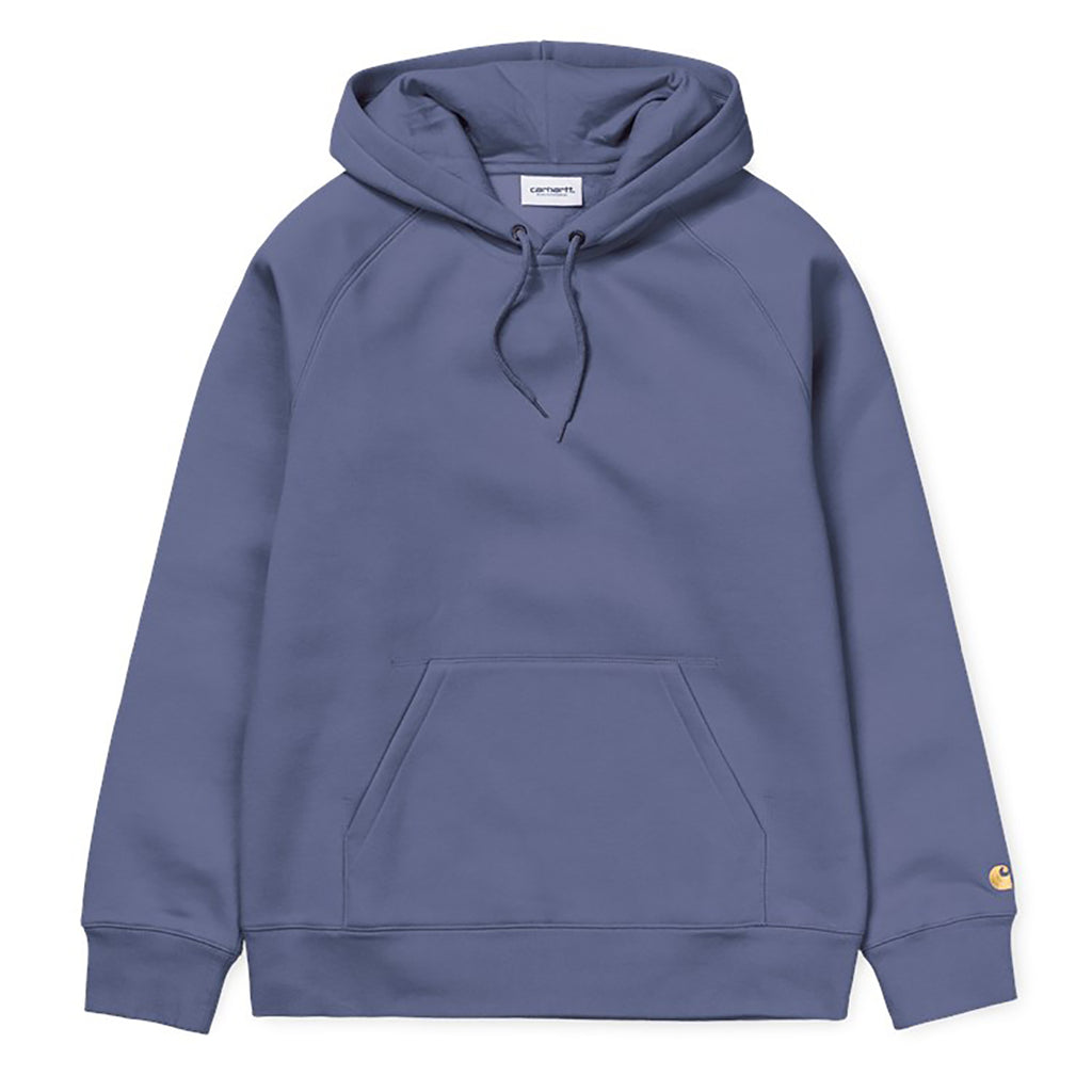 Carhartt WIP Hooded Chase Sweat Hoodie in Cold Viola / Gold