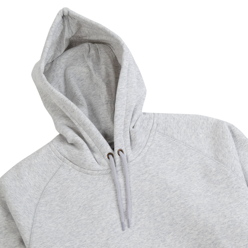 Carhartt WIP Hooded Chase Sweat Hoodie in Ash Heather / Gold - Detail