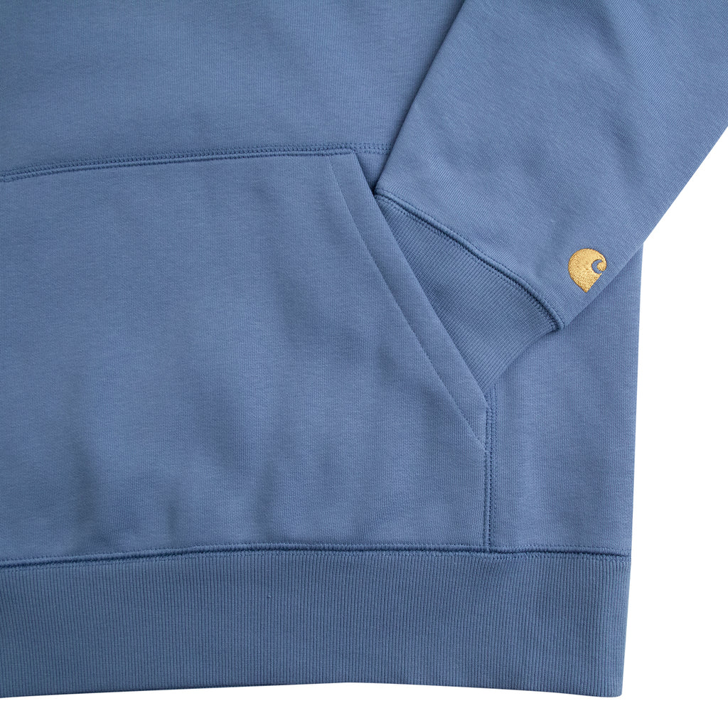Carhartt WIP Hooded Chase Sweat Hoodie in Mossa / Gold - Pocket