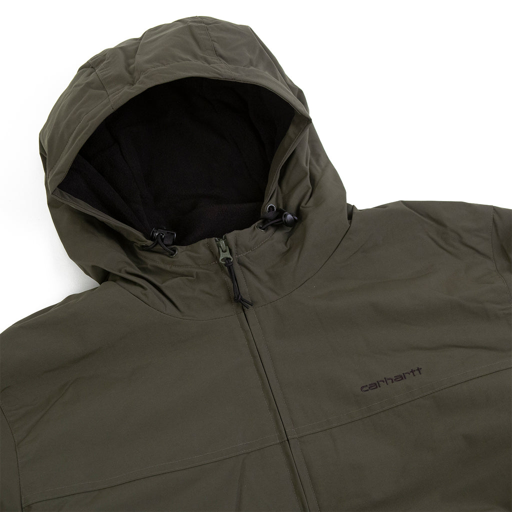 Carhartt WIP Hooded Sail Jacket in Cypress / Black - Detail