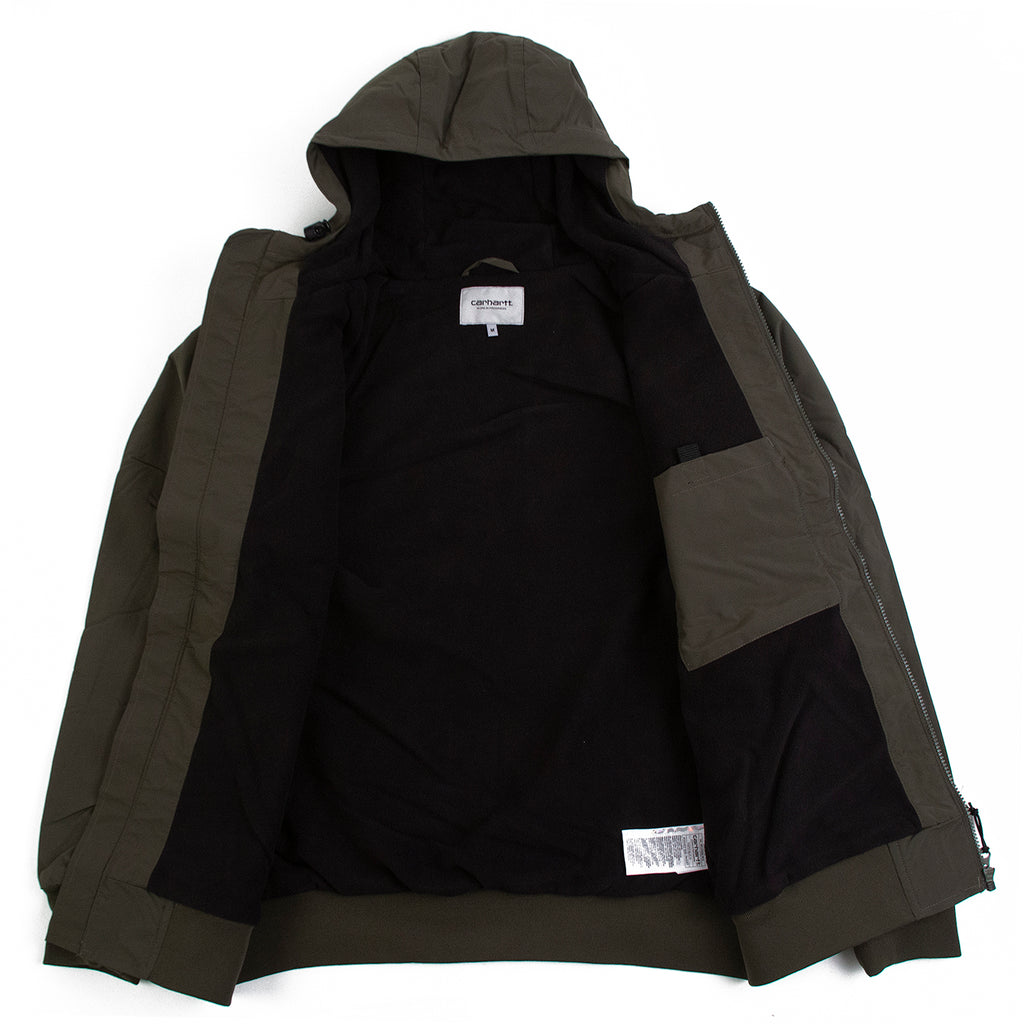 Carhartt Hooded Sail Jacket in Cypress / Black - Open
