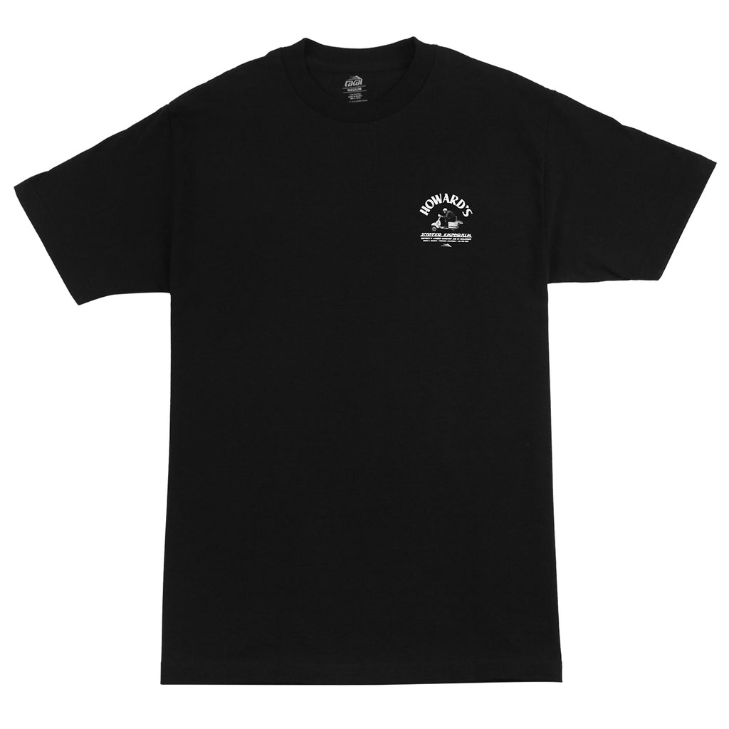 Lakai Howard's Scooter Emporium T Shirt in Black - Front