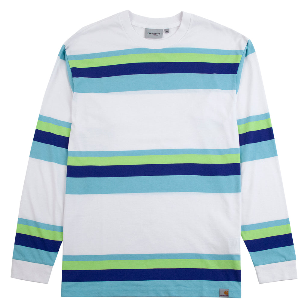 Carhartt WIP L/S Huntington T Shirt in White / Lime