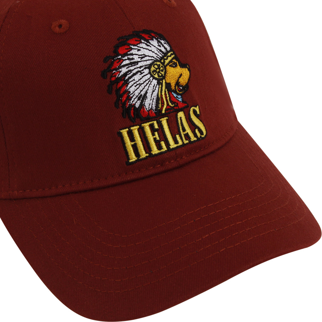 Helas Indian Dog Cap Burgundy - Indian Dog Logo