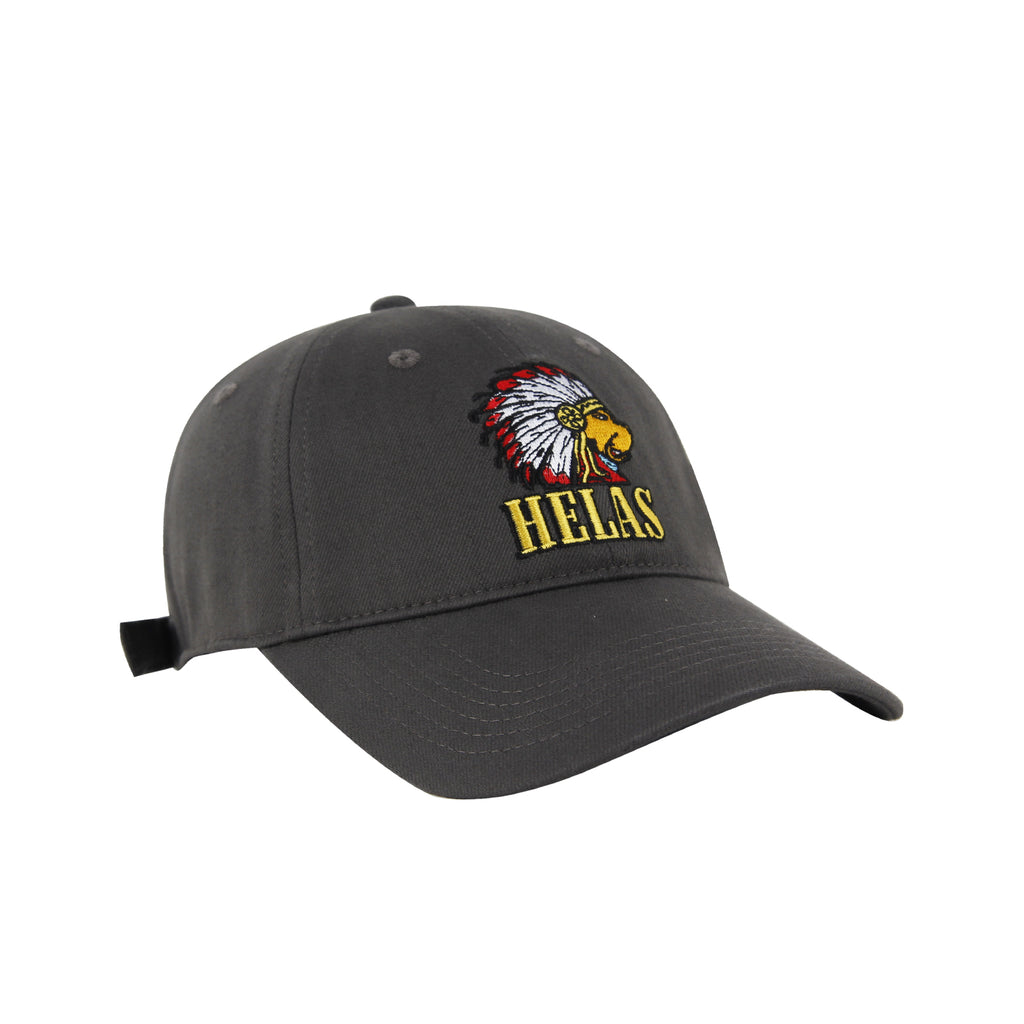 Helas Indian Dog Cap in Grey - Front
