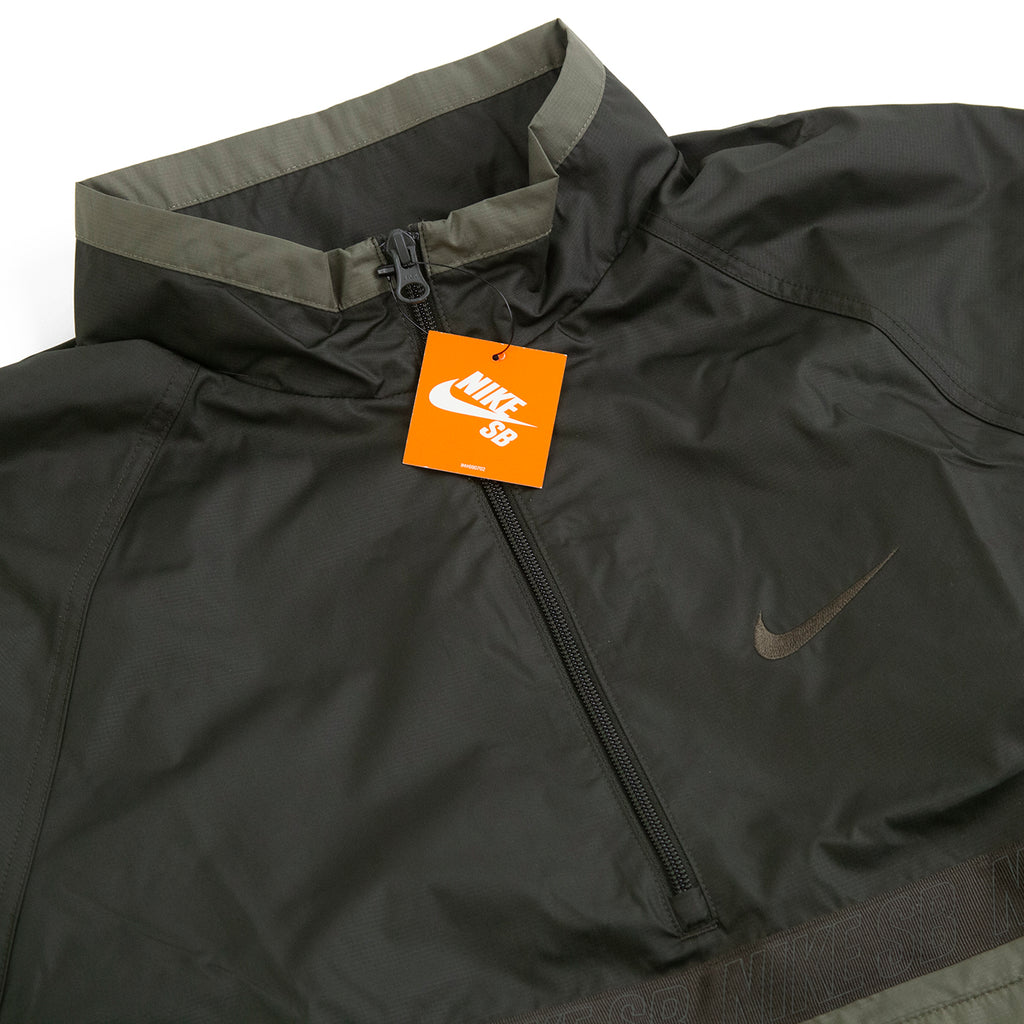 Nike SB Orange Label Ishod Wair Jacket in Medium Olive / Sequoia - Detail