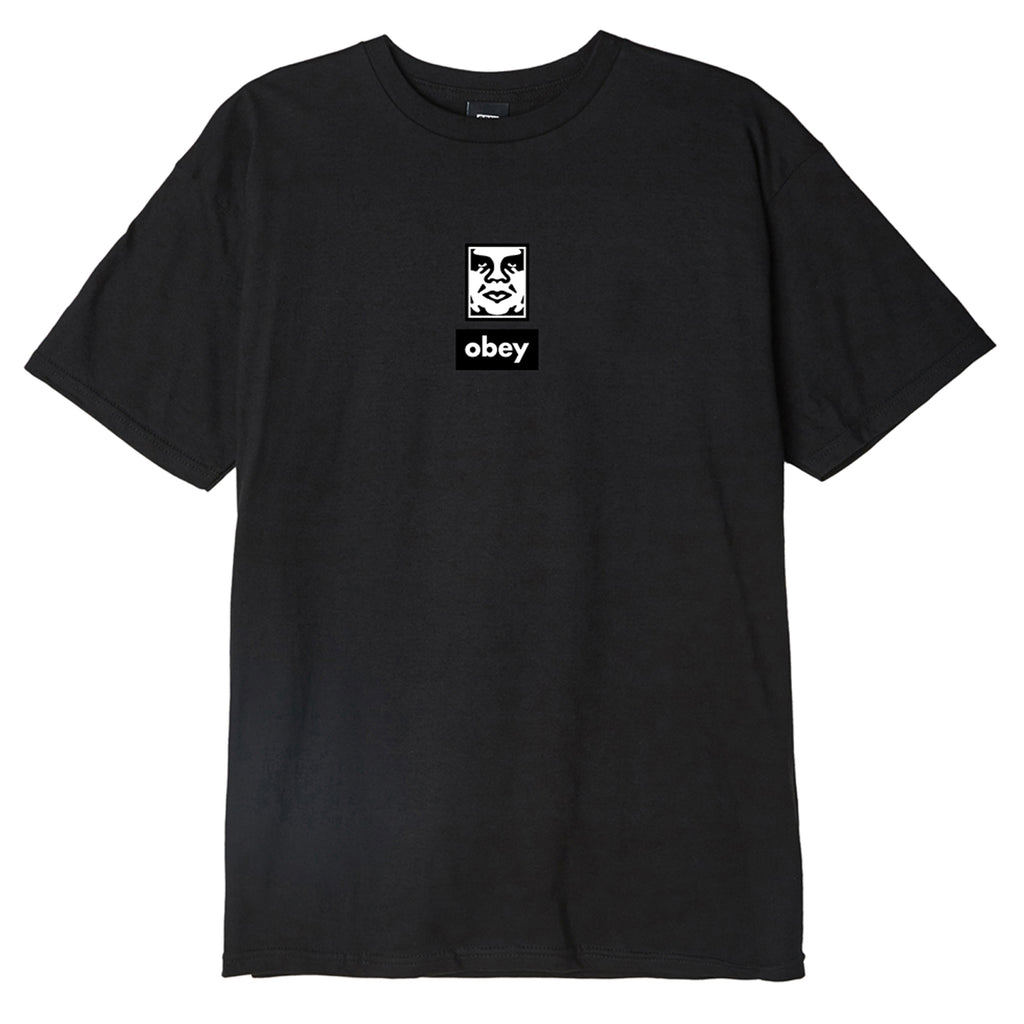 Obey Clothing Icon Face 30 Years T Shirt in Black
