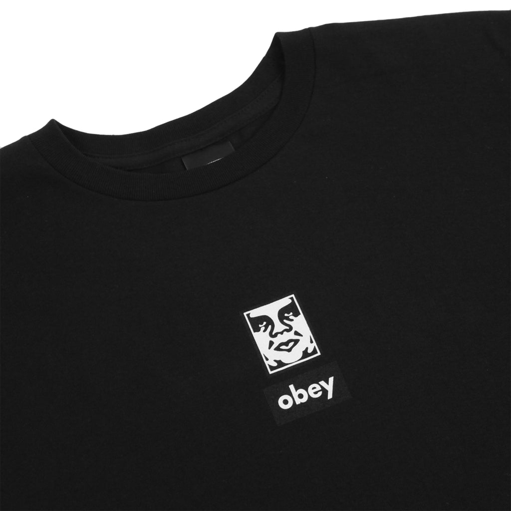 Obey Clothing Icon Face 30 Years T Shirt in Black - Detail
