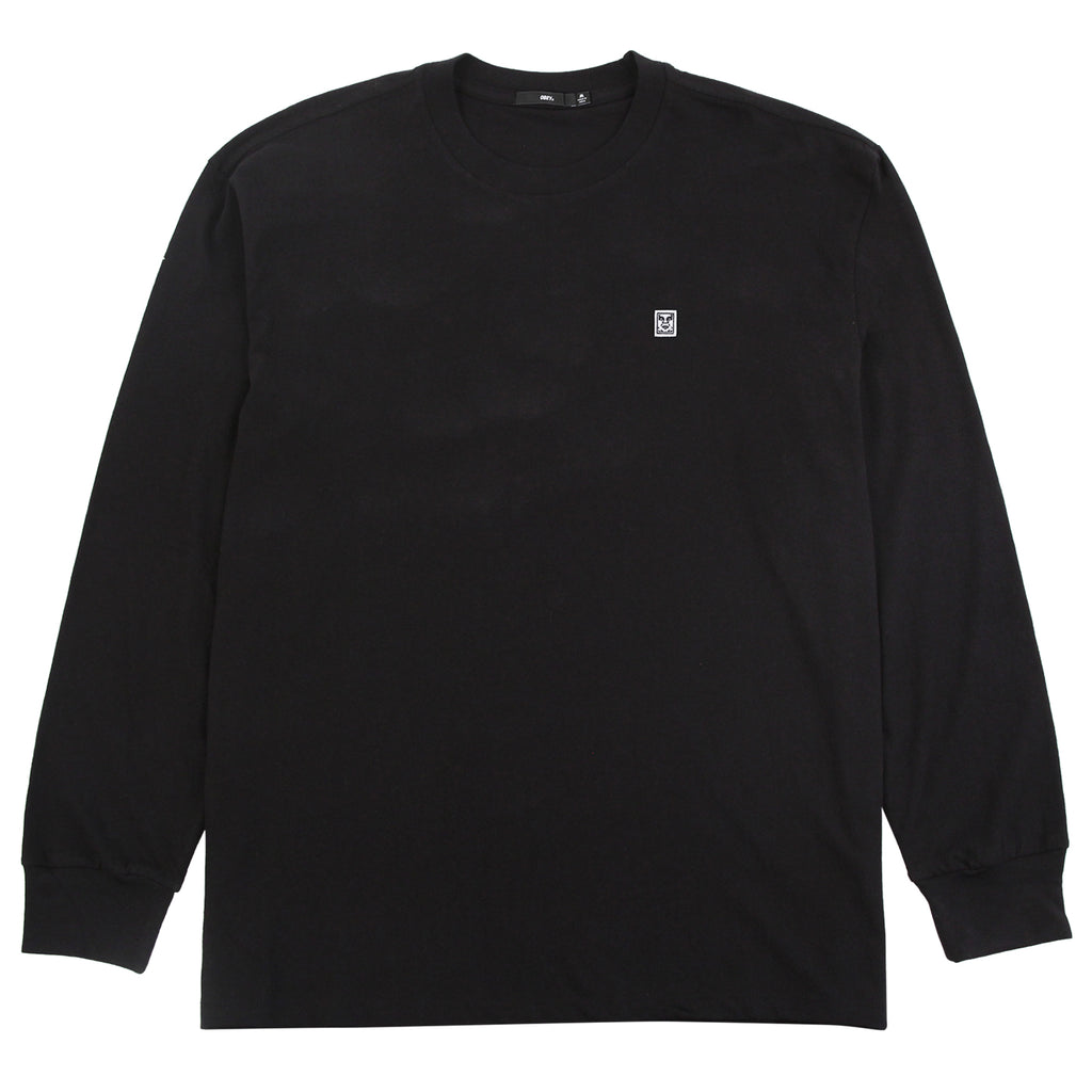 Obey Clothing 89 Icon Box II L/S T Shirt in Black