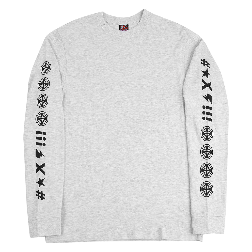 Independent Trucks Ante L/S T Shirt in Athletic Heather - Front