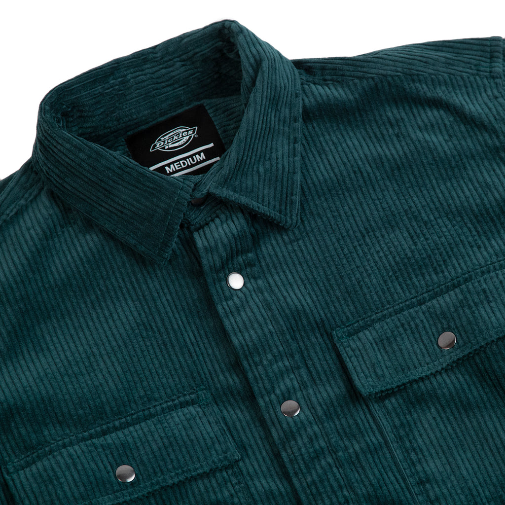 Dickies Ivel Shirt in Forest - Detail