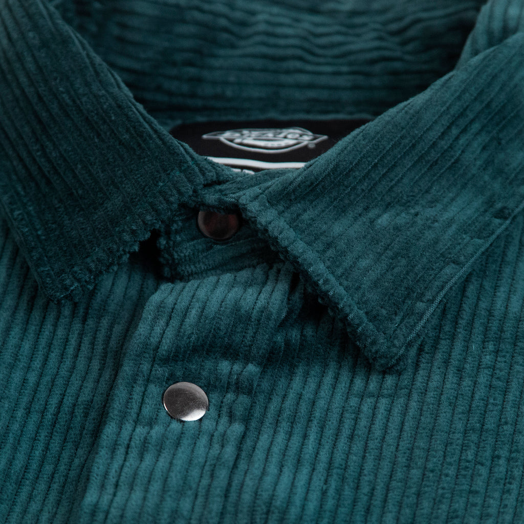 Dickies Ivel Shirt in Forest - Collar