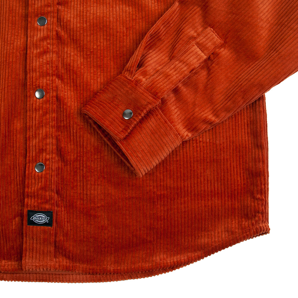 Dickies Ivel Shirt in Rust - Cuff