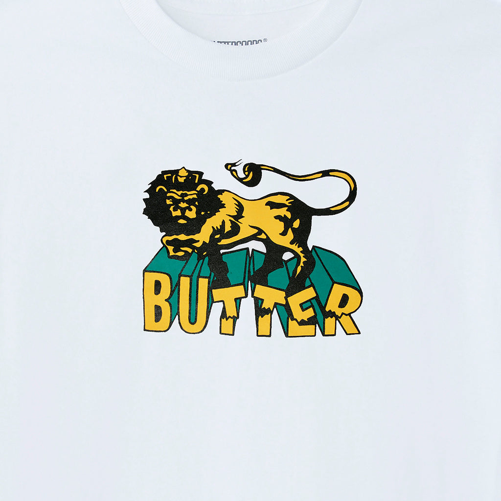 Butter Goods Jah T Shirt in White - Detail
