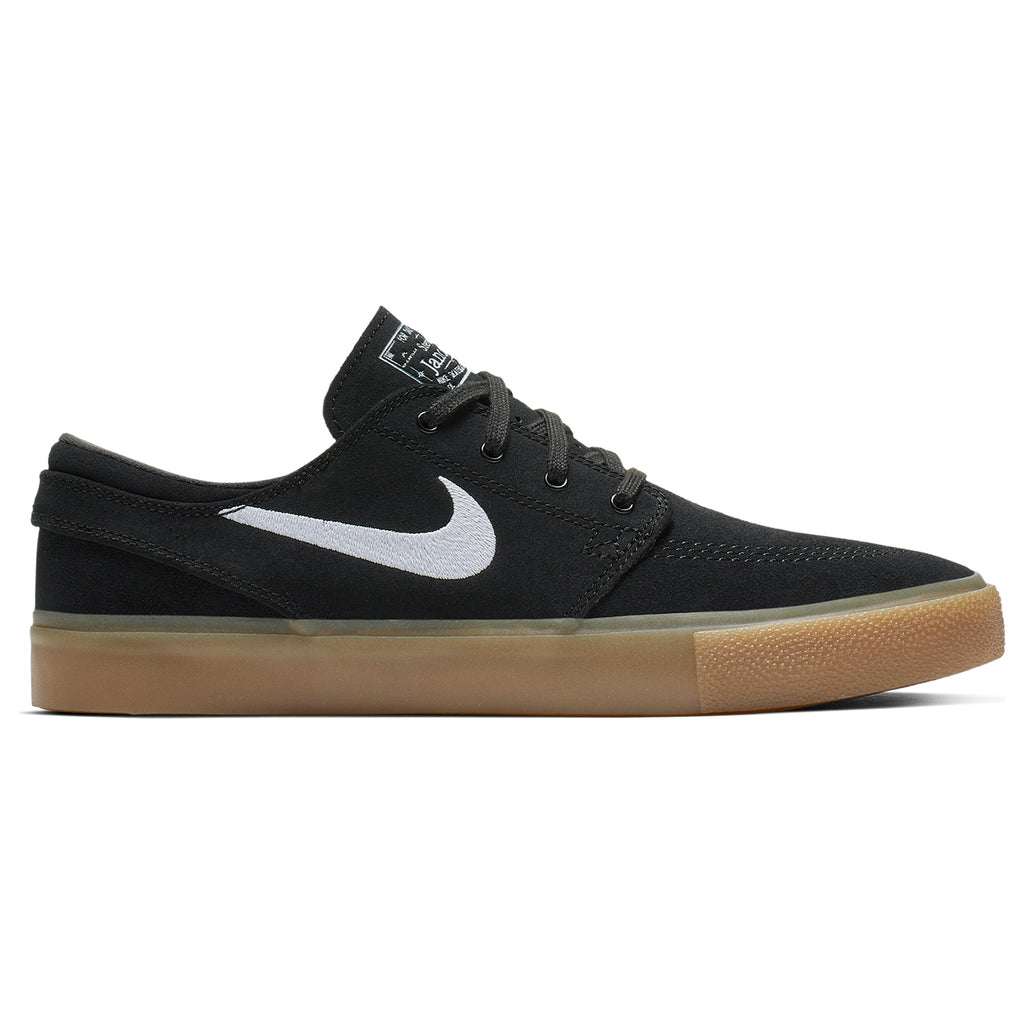 Nike SB Zoom Janoski Remastered Shoes in Black / White - Black - Gum Light Brown