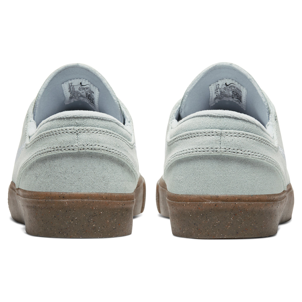 Nike SB Zoom Janoski Flyleather RM Shoes in Pure Platinum / Pure Platinum - Back