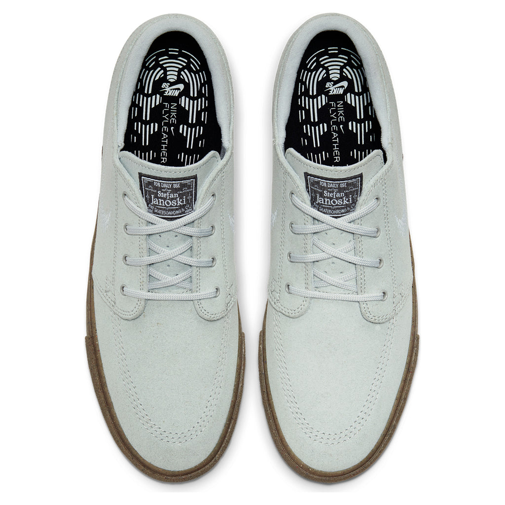 Nike SB Zoom Janoski Flyleather RM Shoes in Pure Platinum / Pure Platinum - Top